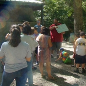 Gathering for Float Your Boat Activity