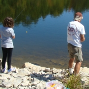 Practicing Casting at Familly Nature Day