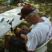 Tying a fly for the Flyfishng Activity