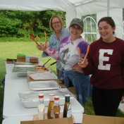 Serving Volunteers Excited about Serving Meals at LCW Field Camp