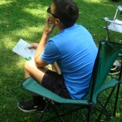 Listening to instuctions at Field Camp