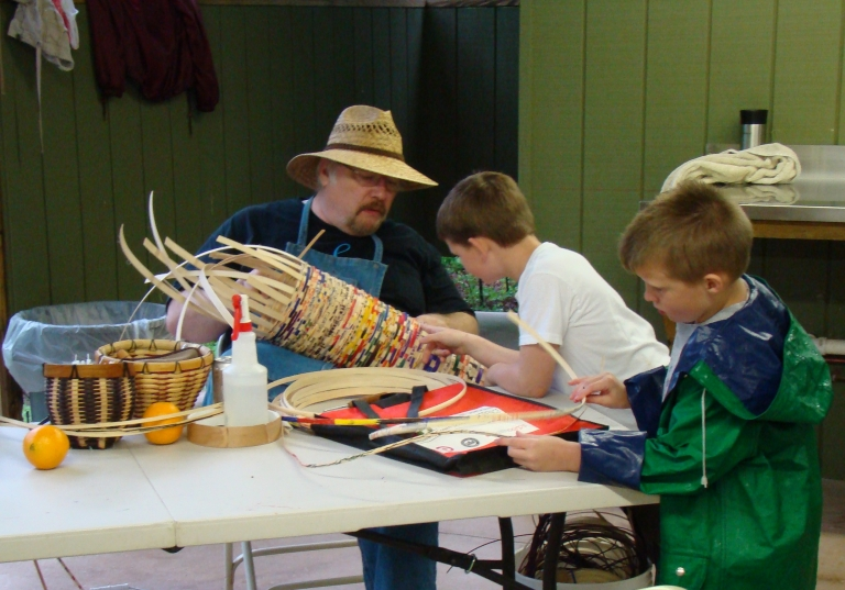 Family Nature Day Weaving Project