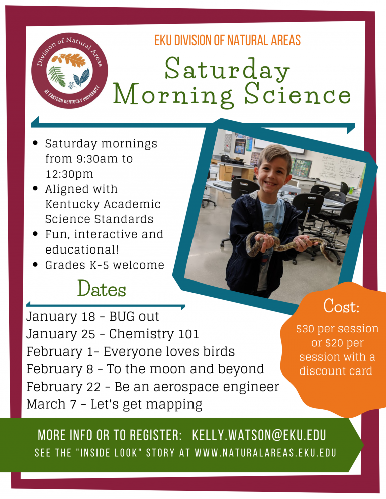 Saturday Morning Science spring 2020