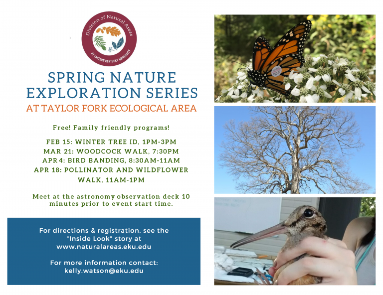 Taylor Fork - Nature Exploration Spring Series Information Flyer
