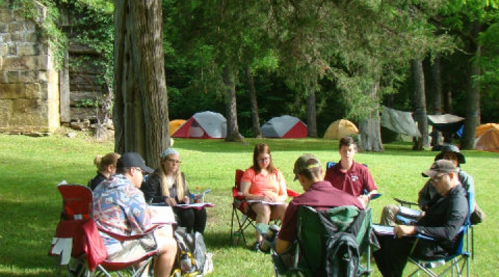 EKU Students in Class at LCW Field Camp