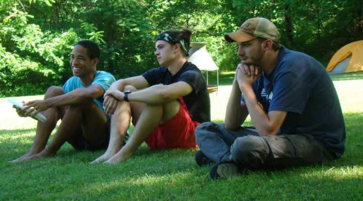 REU Students and EKU Mentor Relaxing at LCW Field Camp