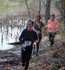Trail runners on the course