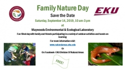Maywoods Fall Family Nature Day - Save the Date Flyer