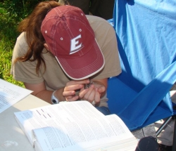 Bird Banding at LCW Field Camp