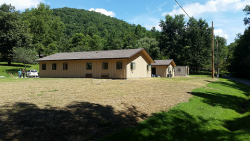 View of completed LCW Research Center and Bunkhouse