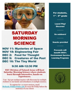 Saturday Morning Science Information Flier
