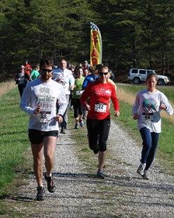 Participants in the 5K begin the race