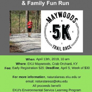 Information Flyer for 5K Trail Race and Family Fun Run
