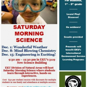 Saturday Morning Science December Program Information
