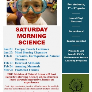 Saturday Morning Science Information Flyer - Jan 2018